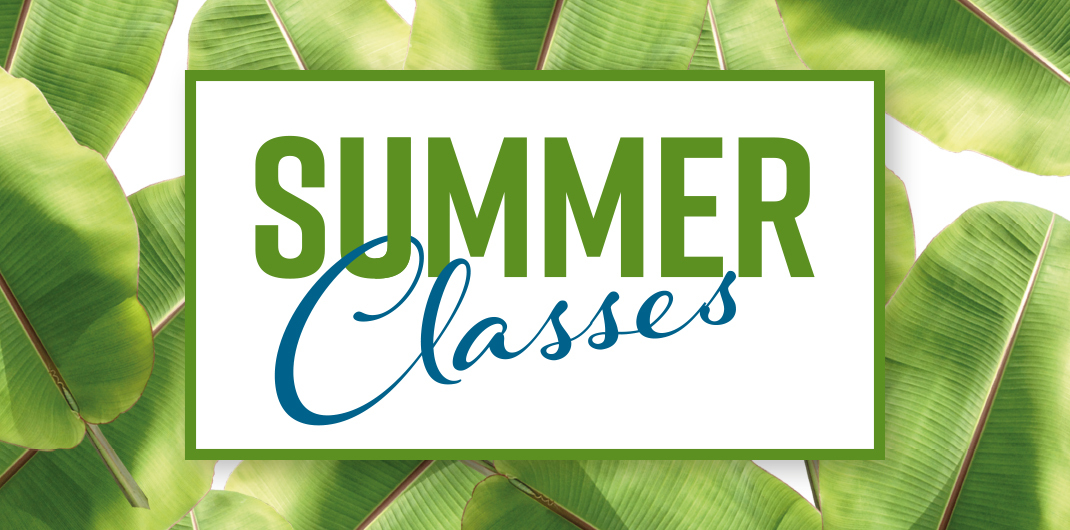 Summer Classes 2018 Banner